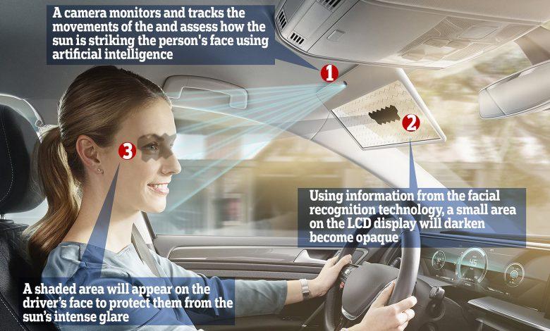 طراحی آفتابگیرهای جدید خودرو با فناوری تشخیص چهره