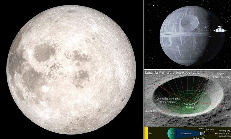 تبدیل دهانه ماه به یک تلسکوپ رادیویی عظیم