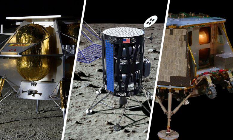 ناسا فرودگرهای سه شرکت را برای بردن انسان به ماه انتخاب کرد