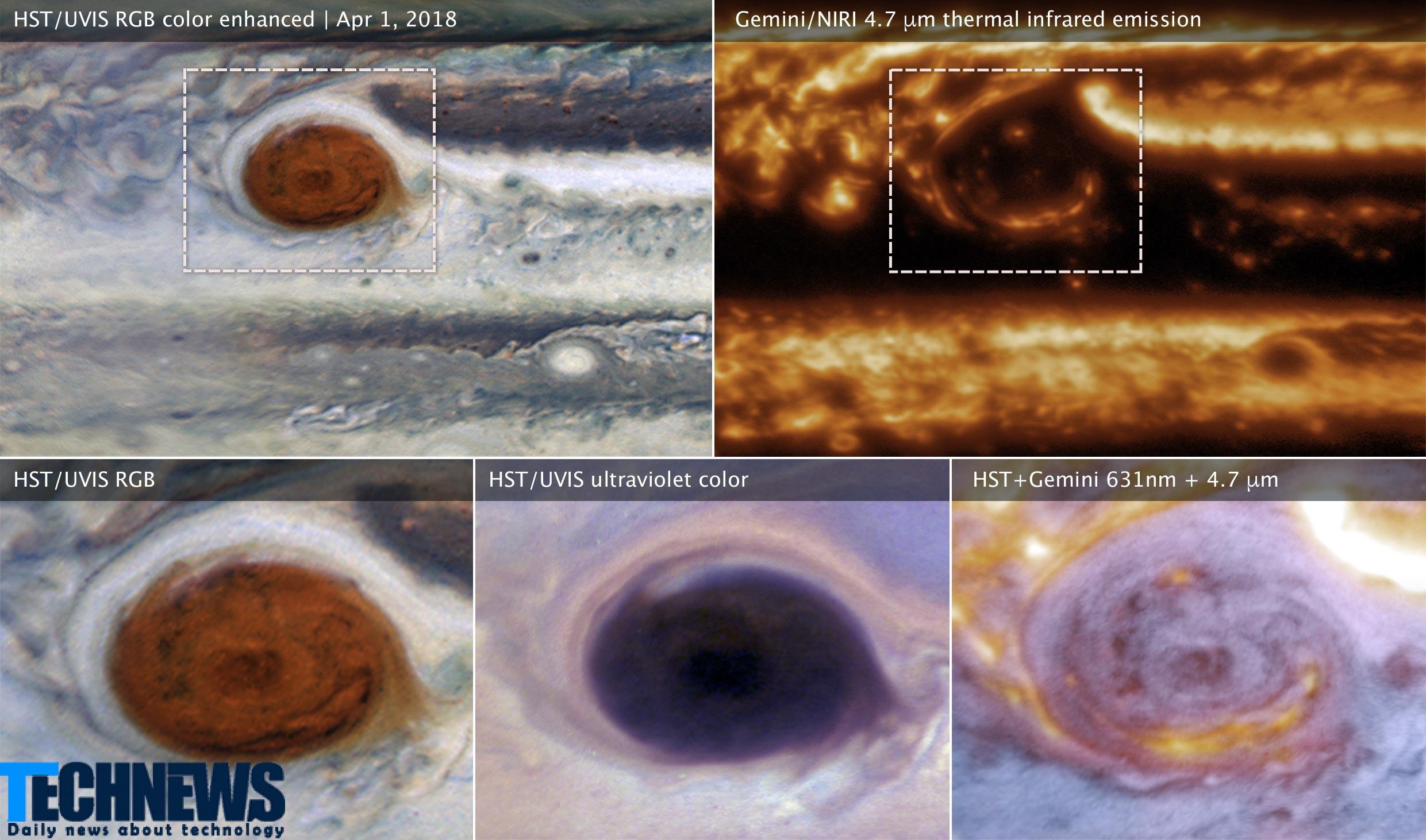 ثبت تصاویر بی نظیری از سیاره مشتری با کمک تلسکوب جمنای