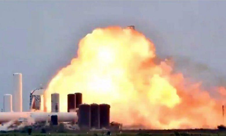 انفجار موتور فضاپیمای اسپیس ایکس در مرحله آزمایش