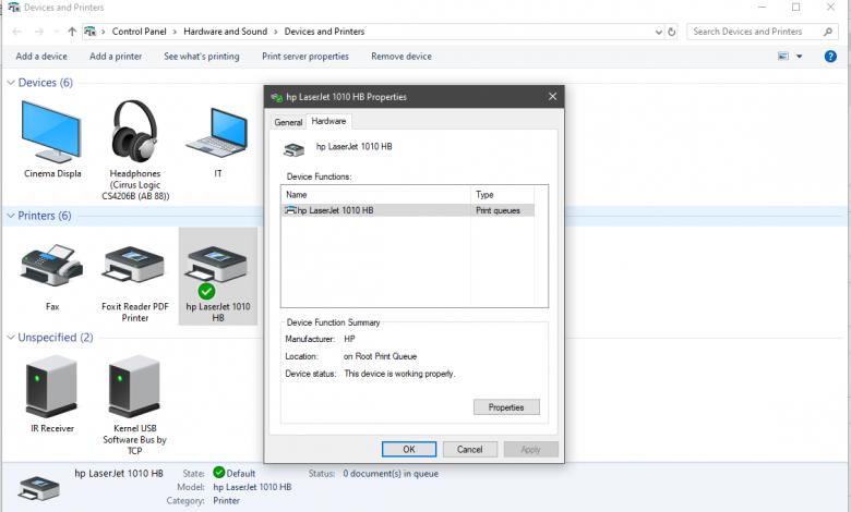 در آپدیت جدید ویندوز امکان استفاده از پرینتر وجود ندارد