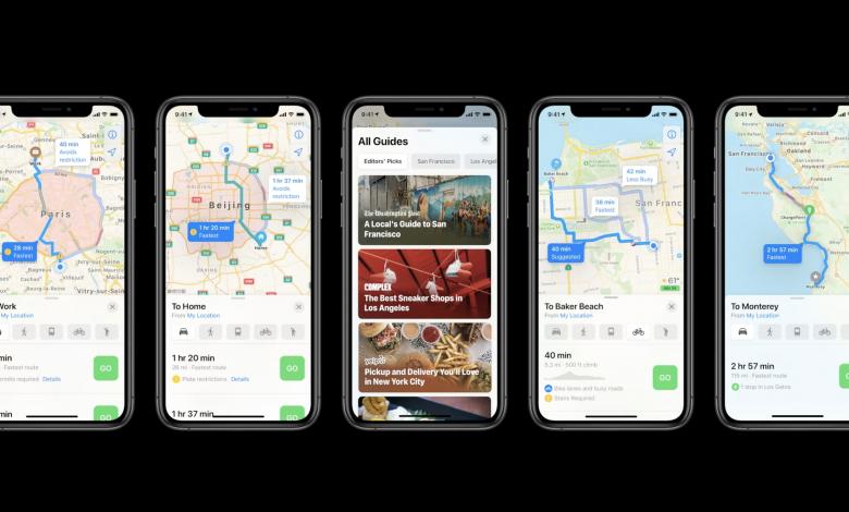 ویژگی پیشنهاد بهترین مسیر دوچرخه سواری در اپلیکیشن Maps در iOS14