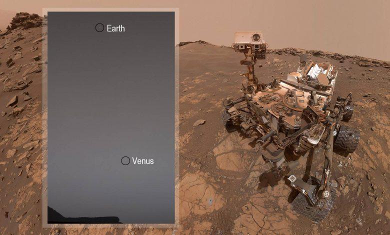 ارسال تصاویر زمین و زهره توسط مریخ نورد کنجکاوی