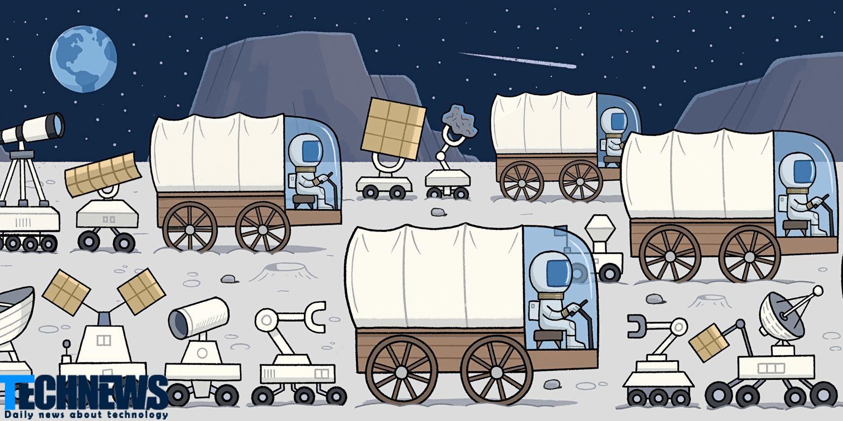 استخراج و استعمار ماه از اوایل سال ۲۰۲۵ آغاز خواهد شد