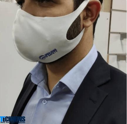نمونه ماسک نانو تقلبی که سودجویان مدعی هستند قابل شستشو میباشد