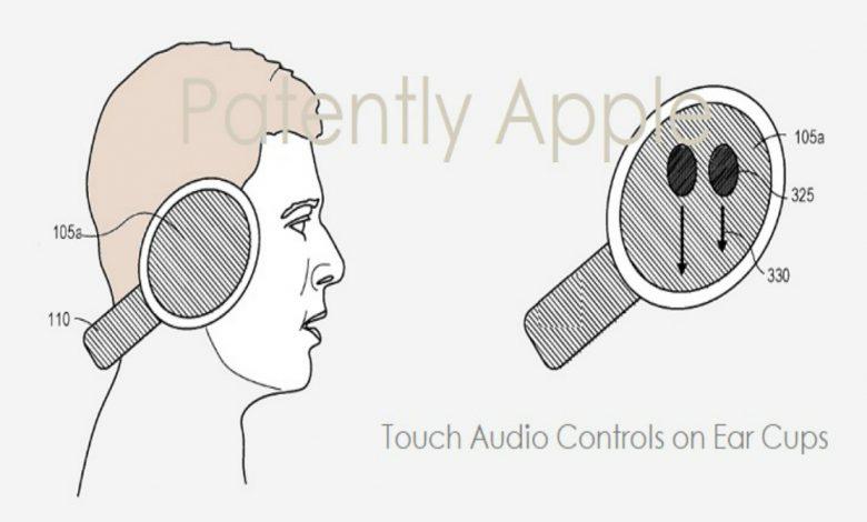 انتشار پتنت هدفون اپل با قابلیت پشتیبانی از ژست لمسی