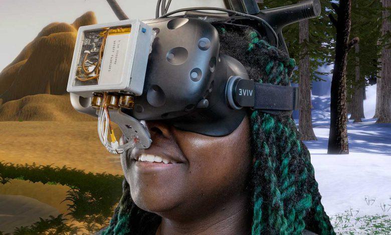 احساس گرما یا سرما از طریق واقعیت مجازی با کمک هک کردن بینی