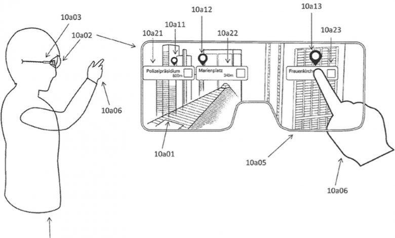انتشار پتنت جدید از عینک واقعیت افزوده اپل با قابلیت تبدیل سطوح به نمایشگر لمسی