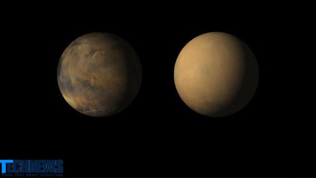 انتشار تصاویری دیدنی از مریخ