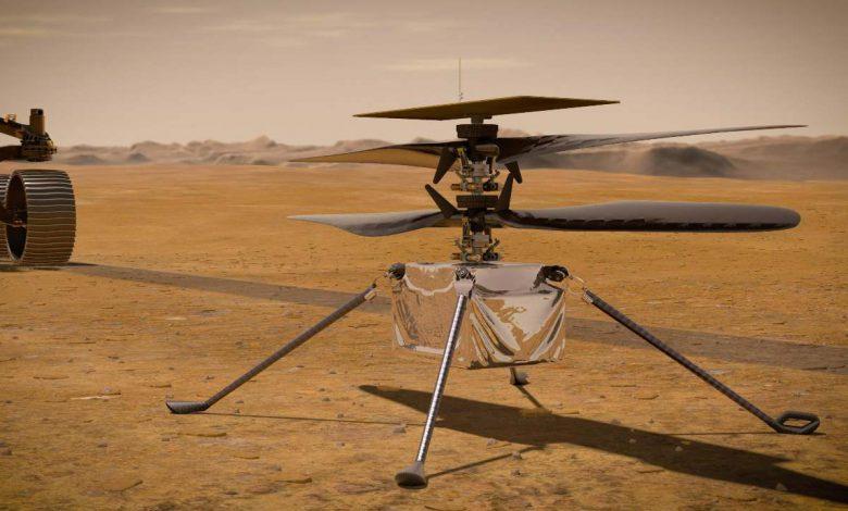 بالگرد ناسا مربوط به مریخ نورد استقامت برای اولین بار در فضا شارژ شد