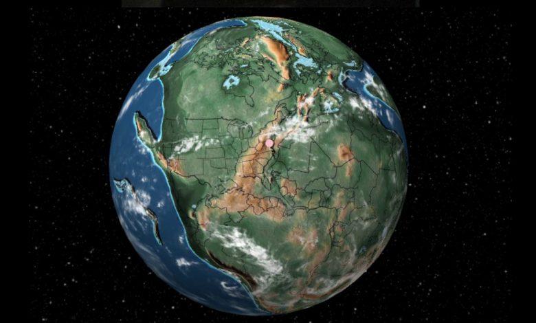 محل قرار گیری شهر ها پیش از رانش قاره ها در کجا قرار داشتند؟