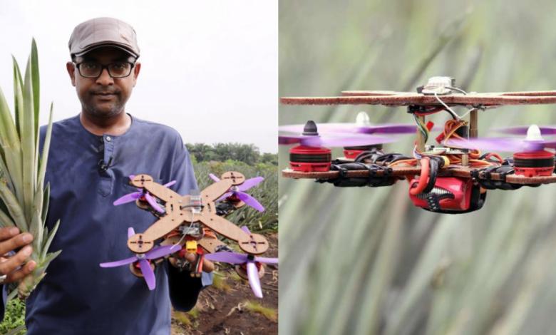 استفاده از ضایعات دور ریختنی آناناس برای ساخت هواپیمای بدون سرنشین