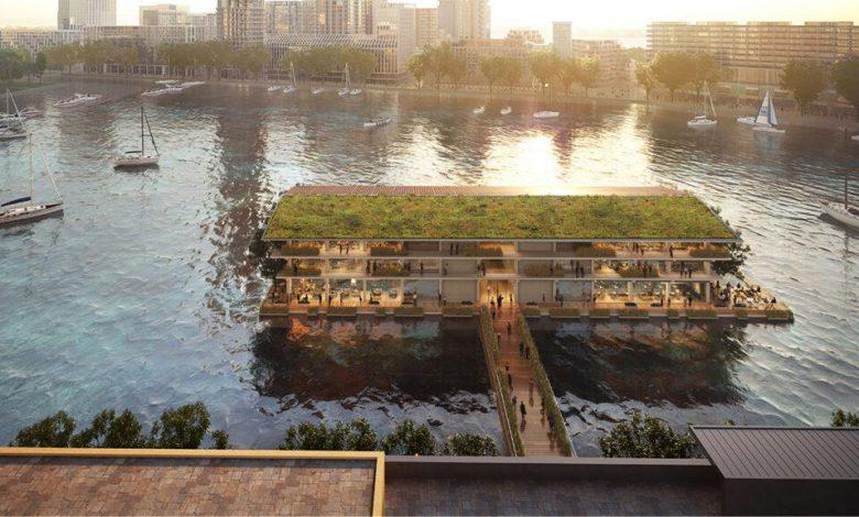 بهره برداری از بزرگترین ساختمان اداری شناور جهان به عنوان مقر مرکز جهانی اقلیمی