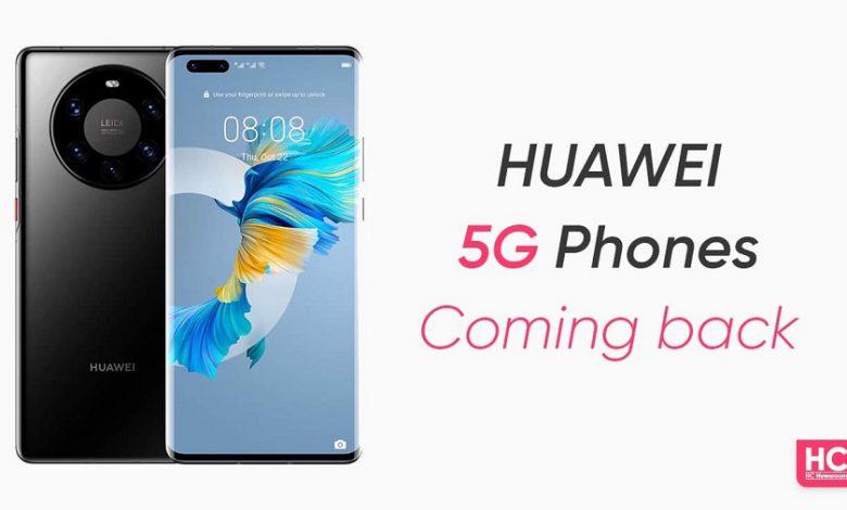 هواوی به زودی به جمع عرضه کنندگان گوشی های هوشمند 5G باز می گردد