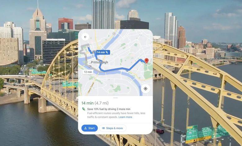 قابلیت جدید گوگل مپس مسیریابی با حداقل انتشار کربن را فراهم می کند